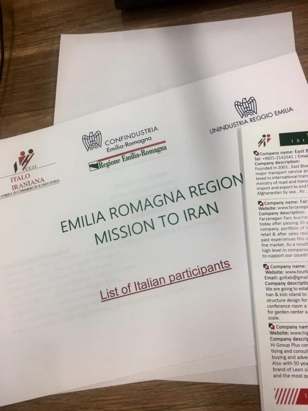 Missione in Iran della Regione Emilia Romagna