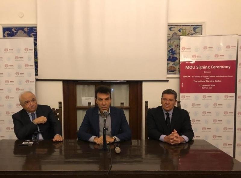 Firma MoU tra Ospedale Pediatrico Gaslini e Charity Foundation Mahak