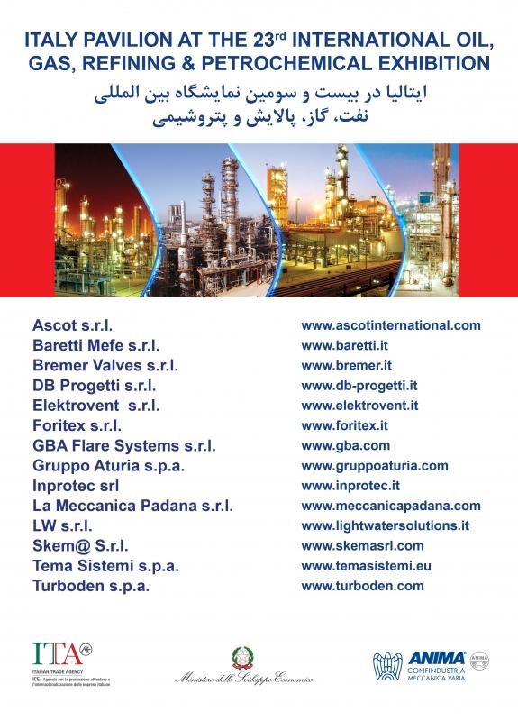 """La partecipazione italiana alla 23^ edizione dell'esposizione """" Gas & Petrochemical Exhibition - 2018""""."""