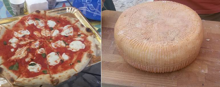 Exhibition and tasting of Italian-style cheeses and Palestinian traditional products and crafts at the Mosaic Guesthouse in Sebastia, West Bank