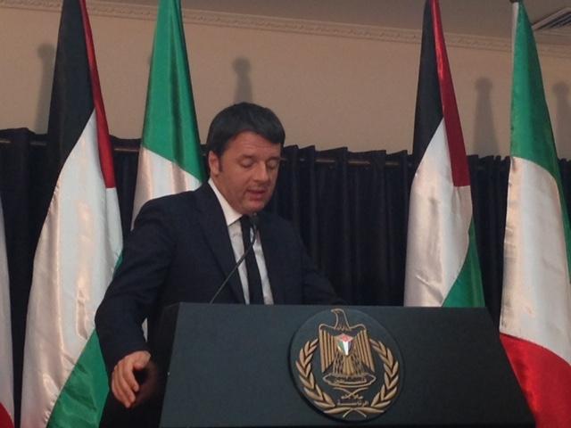 Il Presidente del Consiglio Matteo Renzi visita la Palestina