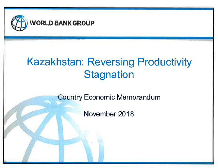 World Bank Country Econonomic Memorandum  2018