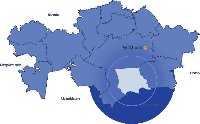 Progetti di investimento nella Regione di Zhambyl segnalati dalla Camera di Commercio del Kazakhstan