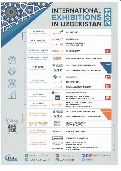 Lista Eventi Fieristici in Uzbekistan 2021