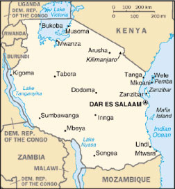 Tasso di crescita della Tanzania diminuita  al 5,7%