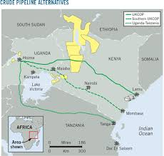 Aggiornamenti oleodotto tra l'Uganda e la Tanzania