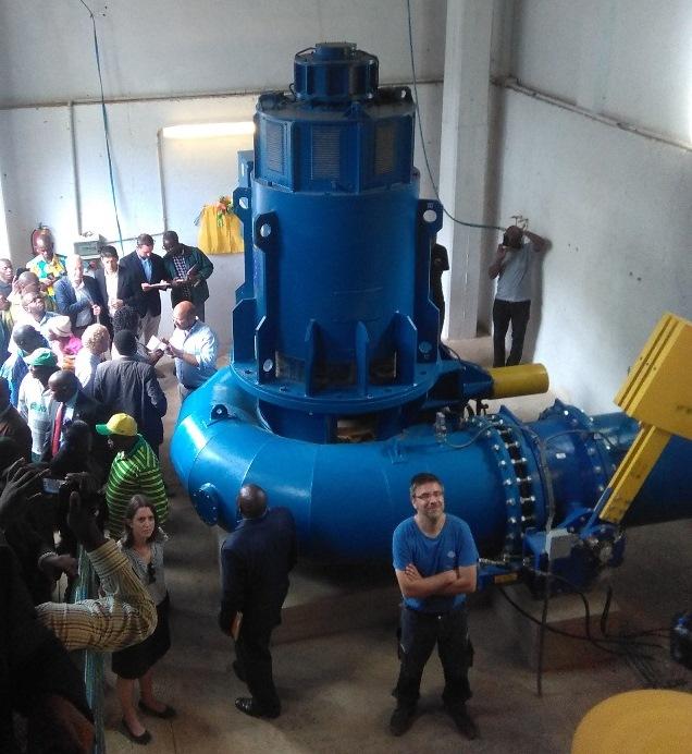 Nuova turbina idroelettrica da 350KW nel villaggio di Ikondo