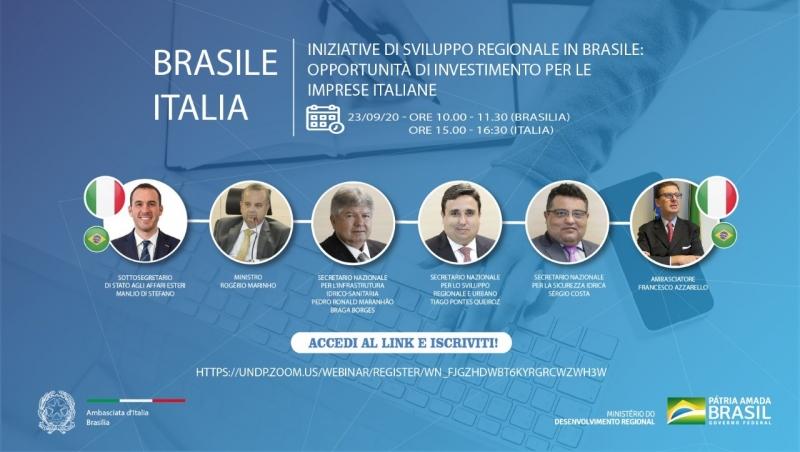 INCONTRO MINISTRO SVILUPPO REGIONALE DEL BRASILE - SOCIETÀ ITALIANE