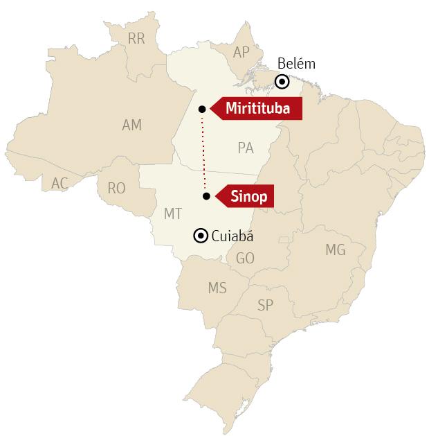 """60 anni di concessione per il """"Ferrogrão"""". È quanto propone il Governo federale per sbloccare la costruzione della ferrovia tra Mato Grosso e Pará."""