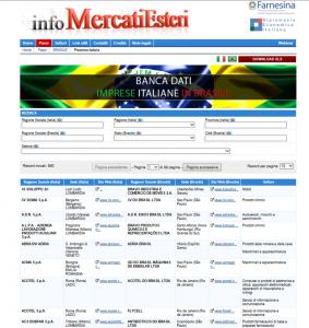 """Lancio della banca dati sulla presenza imprenditoriale italiana in Brasile e presentazione della piattaforma """"Expo Business Matching""""."""