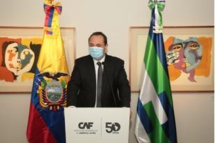 La CAF (Corporación Andina de Fomento) nel 2020 ha concesso prestiti all'Ecuador per complessivi 1,1 mld/usd.