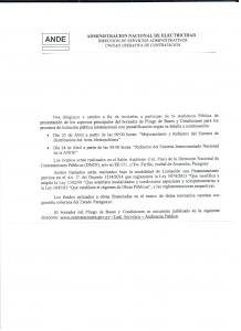 Prossima presentazione al pubblico di Licitazioni internazionali ANDE
