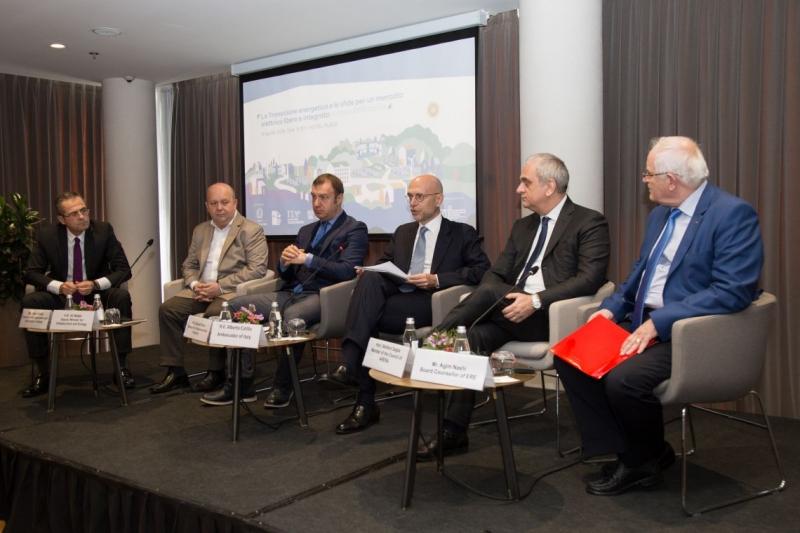 """Tavolo Energia e Workshop """"la Transizione energetica e le sfide per un mercato elettrico libero e integrato.Il caso dell'Albania(8-9 Aprile 2019)"""