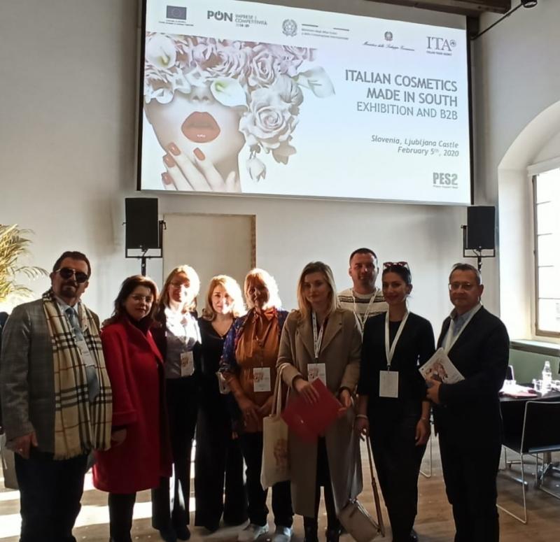 Delegazione operatori albanesi alla Mostra della Cosmetica italiana, Lubiana 5-6 febbraio 2020