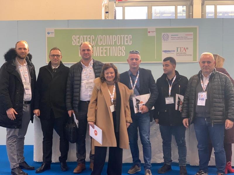 Delegazione albanese e kosovara alla XII edizione Compotec di Carrara, 4-7 febbraio 2020