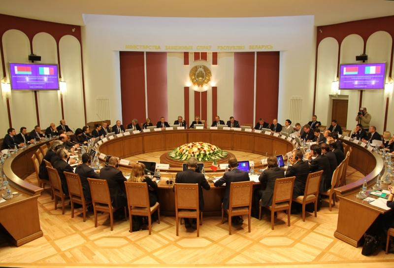 Minsk - I Sessione della Commissione Mista per la cooperazione economica e Business Forum italo-bielorusso