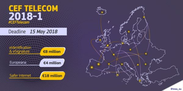 Connecting Europe Facility (CEF) - Telecom, bandi 2018 per servizi digitali