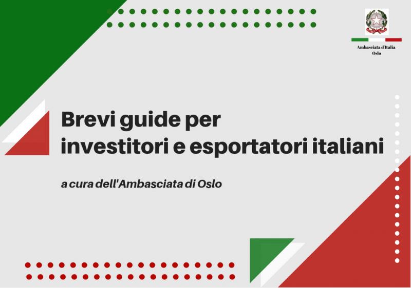 Brevi guide per investitori ed esportatori italiani - Norvegia: settore agroalimentare