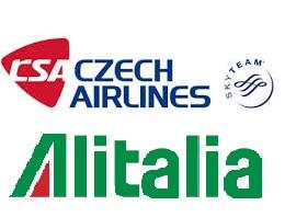 Accordo di code sharing tra la compagnia di bandiera ceca CSA e Alitalia