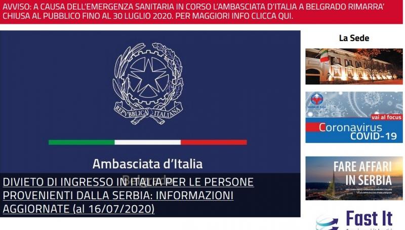 EMERGENZA COVID-19: NUOVE DISPOSIZIONI PER INGRESSO IN ITALIA