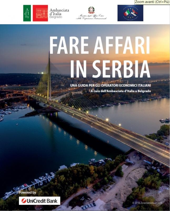 """Pubblicata la guida """"Fare Affari in Serbia"""", curata dall'Ambasciata d'Italia a Belgrado"""