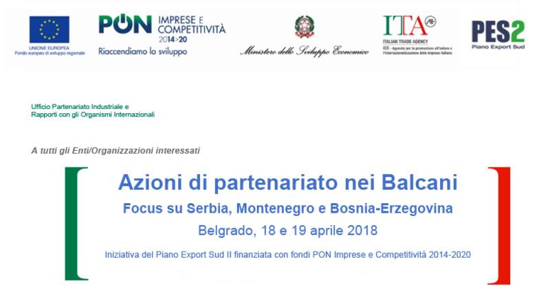 Seminario ICE a Belgrado - Azioni di partenariato nei Balcani