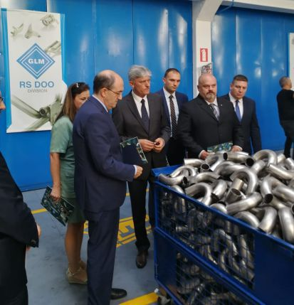 L'Ambasciatore Lo Cascio in visita agli stabilimenti italiani a Zrenjanin