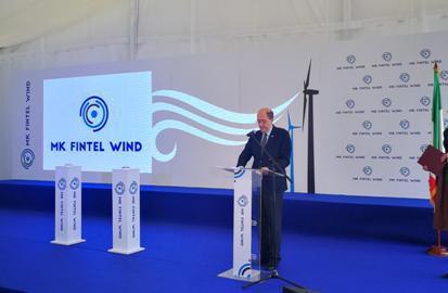 Inaugurato il parco eolico di MK Fintel Wind - Kosava a Izbiste