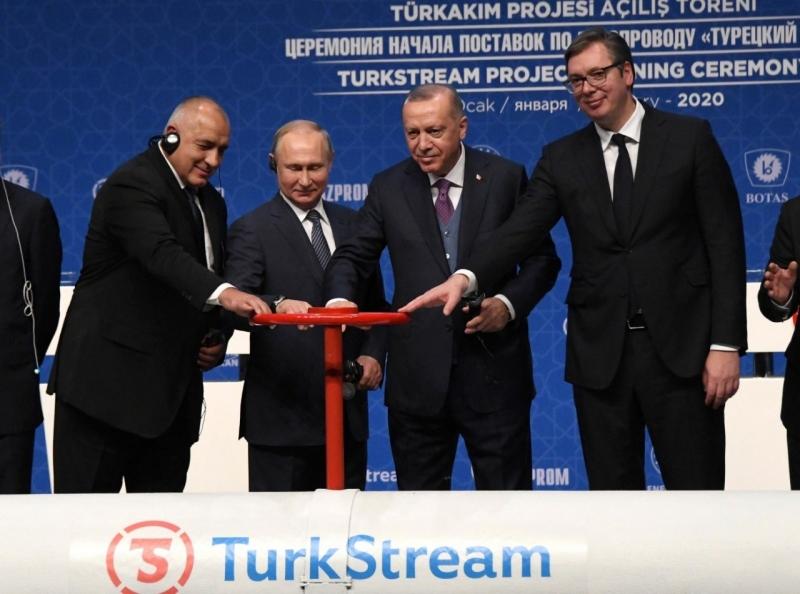 Inaugurazione ad Istanbul del gasdotto TurkStream