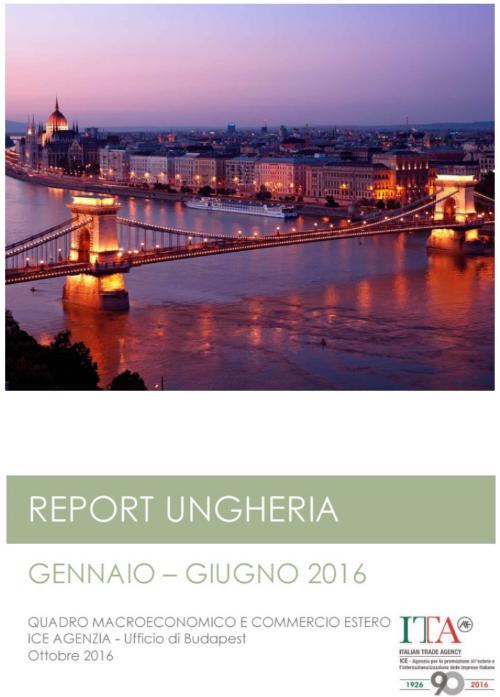 PUBBLICAZIONE REPORT UNGHERIA 2016 1° SEMESTRE